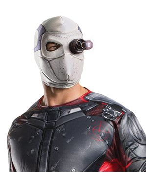 Máscara de Deadshot Esquadrão Suicida com luz para adulto