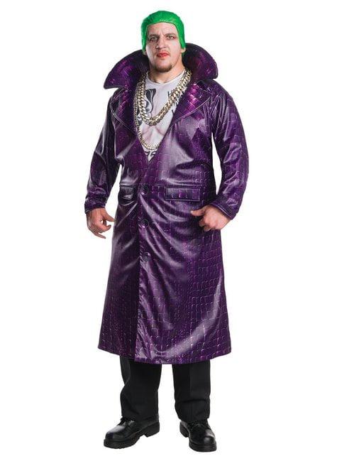 Kostium Joker Legion Samobójców deluxe męski duży rozmiar