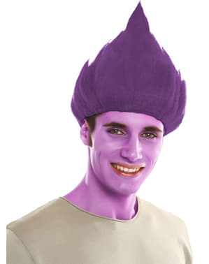 Perruque Troll violette adulte