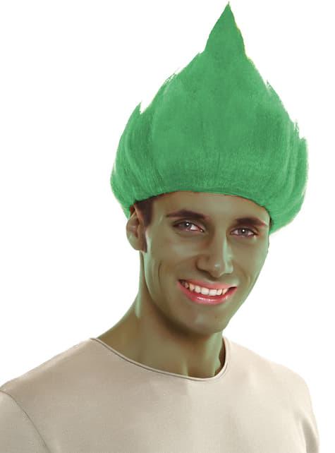 Peluca de troll verde para adulto