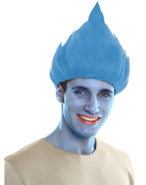 Adult's Blue Troll Wig
