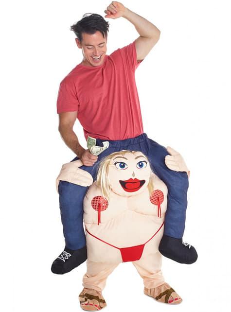 Disfraz a hombros de stripper