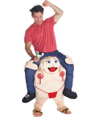 Мъжки костюм за ергенско парти тип Carry Me