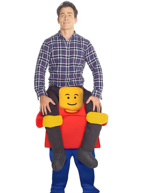Disfraz a hombros de lego para adulto