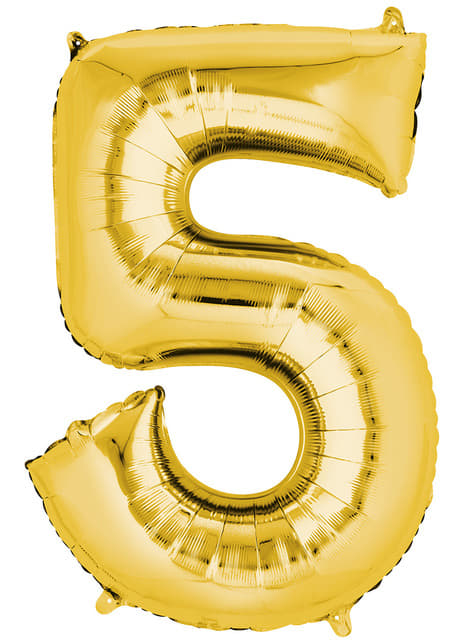 Balonek číslo 5 zlatý
