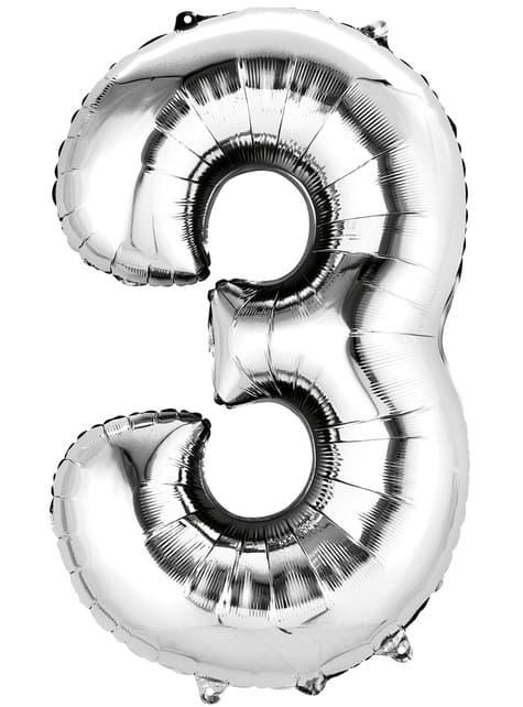 Balonek číslo 3 zlatý