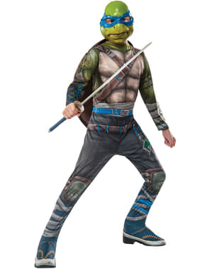 Fato de Leonardo As Tartarugas Ninja 2 para menino