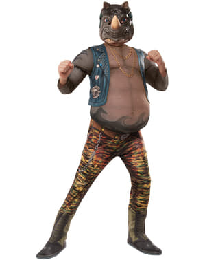 Costum Rocksteady Țestoasele Ninja 2 deluxe pentru băiat
