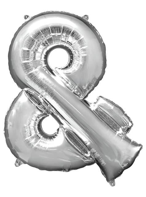Ballon & argenté (86 cm)