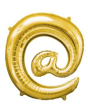 Kultainen at- merkki ilmapallo (86 cm)