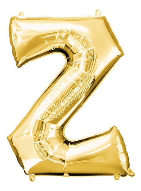Gold Letter Z Balloon (86 cm)