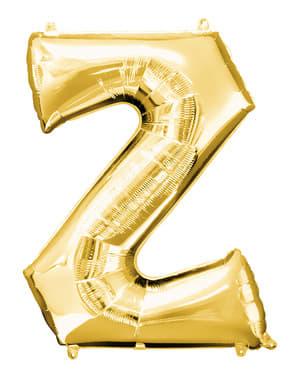 Kultainen kirjain Z ilmapallo (86 cm)