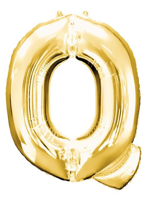 Balonek písmeno Q zlatý (86 cm)