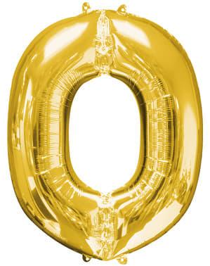 Balão letra O dourada (86 cm)