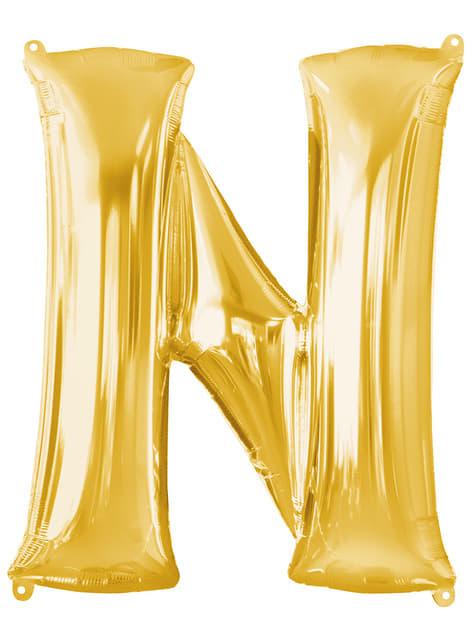 Gold Letter N Balloon (86 cm)