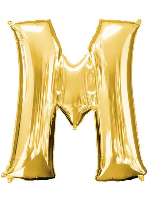 Balonek písmeno M zlatý (86 cm)