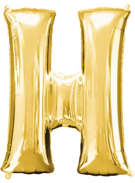 Gold Letter H Balloon (86 cm)
