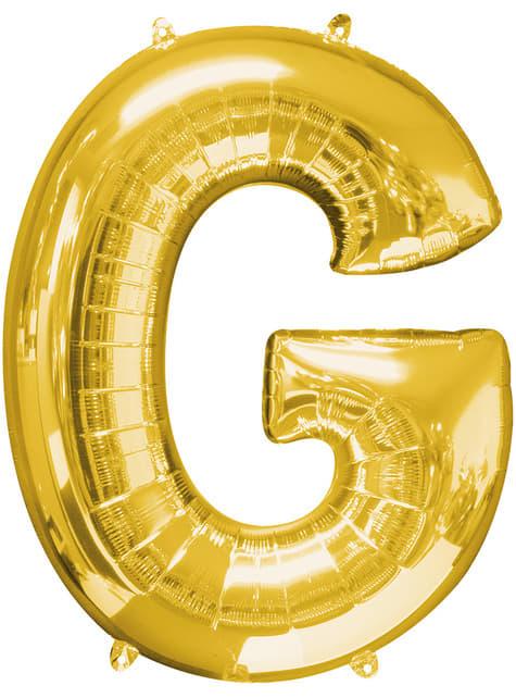 Globo letra G dorado (86 cm)
