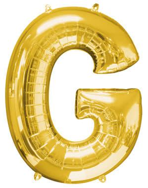 Balão letra G dourada (86 cm)