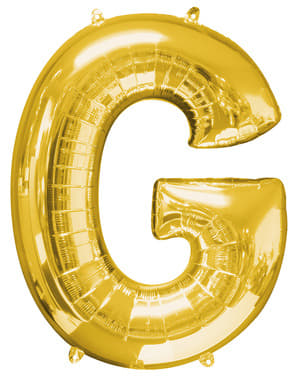 Balon złoty literka G (86 cm)