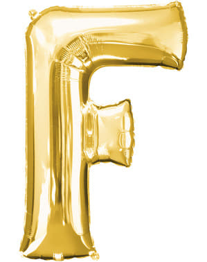Ballon letter F goud (86 cm)