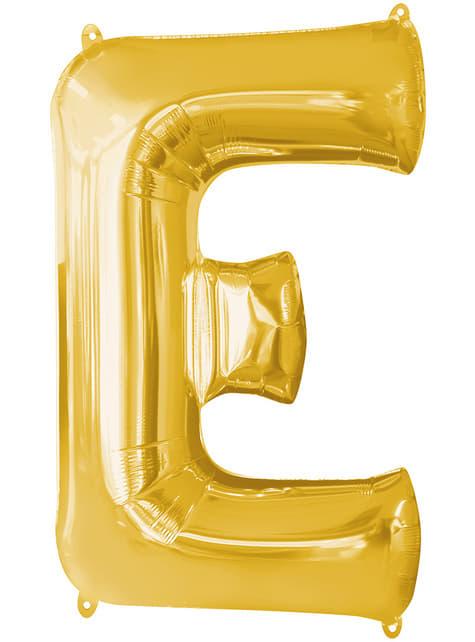 Balonek písmeno E zlatý