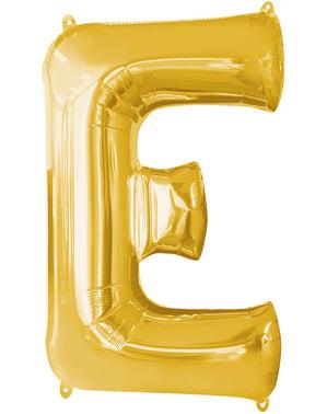 Kultainen kirjain E ilmapallo
