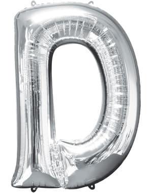 Balon srebrny literka D