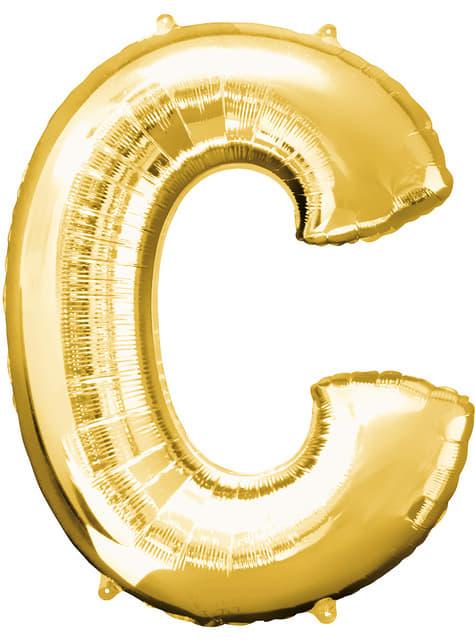 Balonek písmeno C zlatý