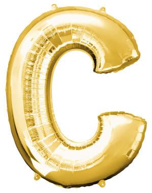 Ballon lettre C doré