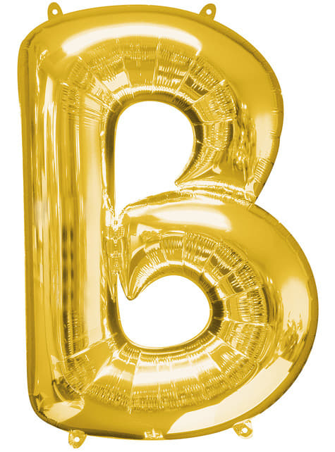 Balonek písmeno B zlatý