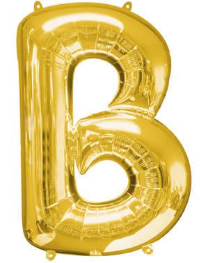 Globo letra B dorado (86 cm)