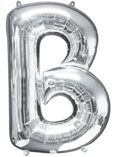 Balonek písmeno B stříbrný (86 cm)