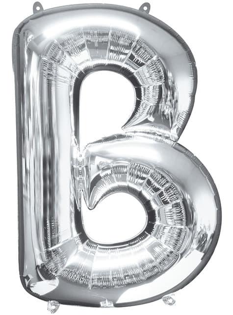 Balonek písmeno B stříbrný