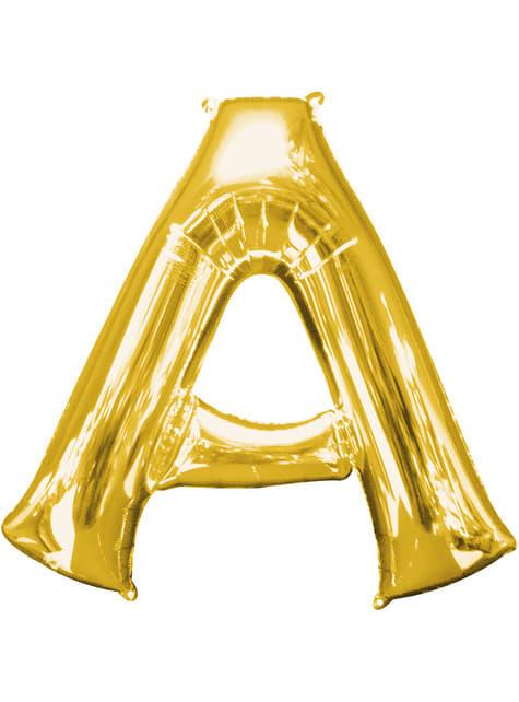 Globo letra A dorado (86 cm)