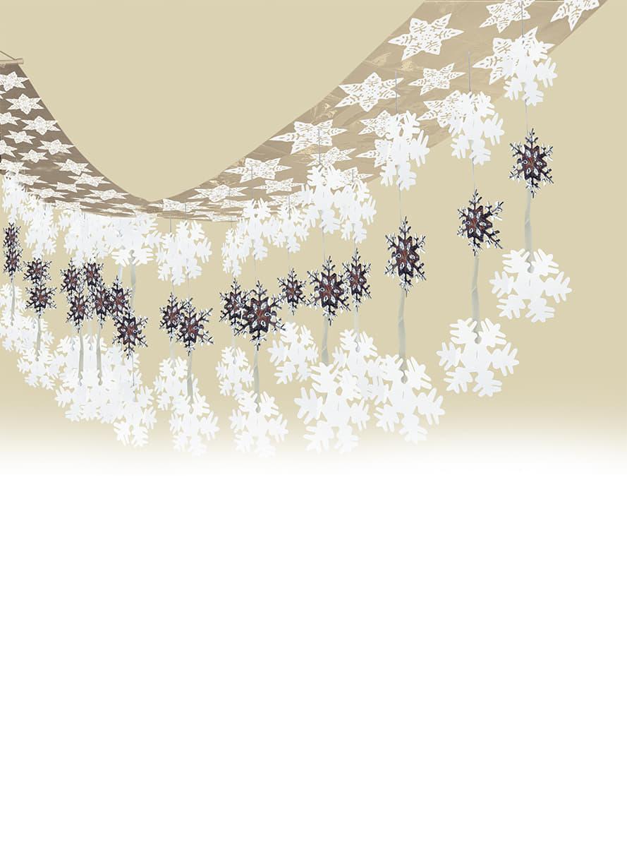guirlande flocons de neige pour d guisement funidelia. Black Bedroom Furniture Sets. Home Design Ideas
