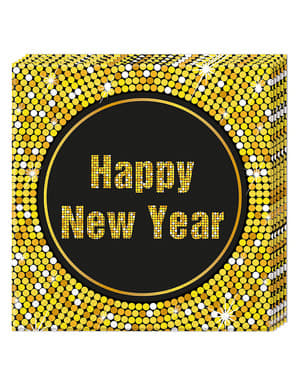 20 Serviettes en papier Happy New Year