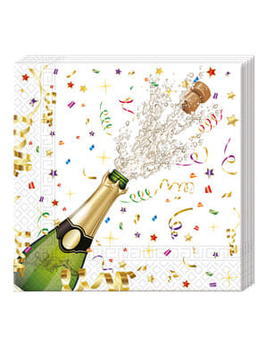 20 servilletas para nochevieja Happy New Year Brindis (33x33 cm)