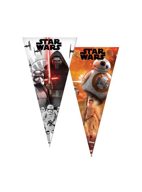 6 bolsas de cono de Star Wars - The Last Jedi