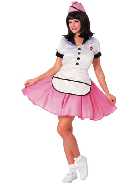 Disfraz de camarera coqueta años 50 para mujer