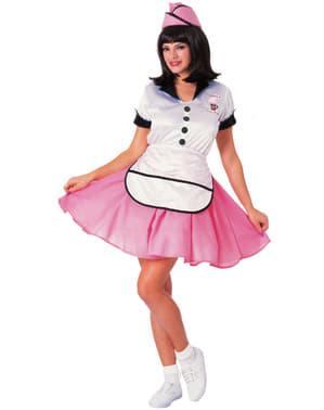 Flirterige serveerster kostuum jaren '50 voor dames