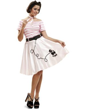 Costum de domnișoară rock and roll pentru femeie
