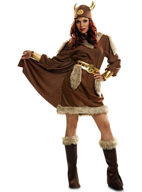 Nordische Kriegerin Kostüm für Damen