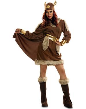 Disfraz de vikinga nórdica para mujer