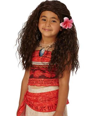 Parrucca da Vaiana Oceania per bambina