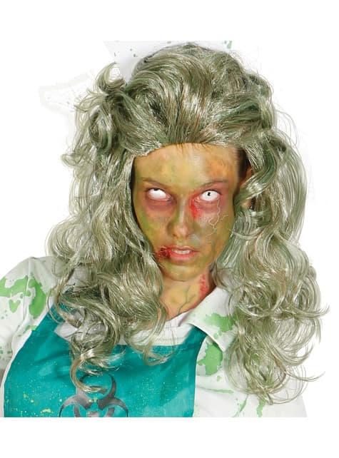 Peluca gris mujer zombie
