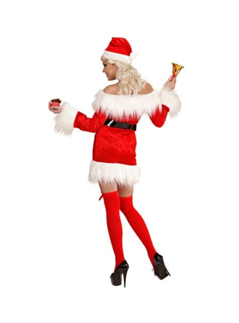 Velvet Mrs Claus costume for women