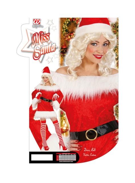 Disfraz de Mamá Noel de terciopelo para mujer - traje