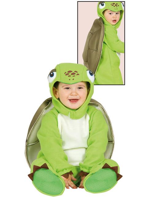 Fato de tartaruguinha preguiçosa para bebé
