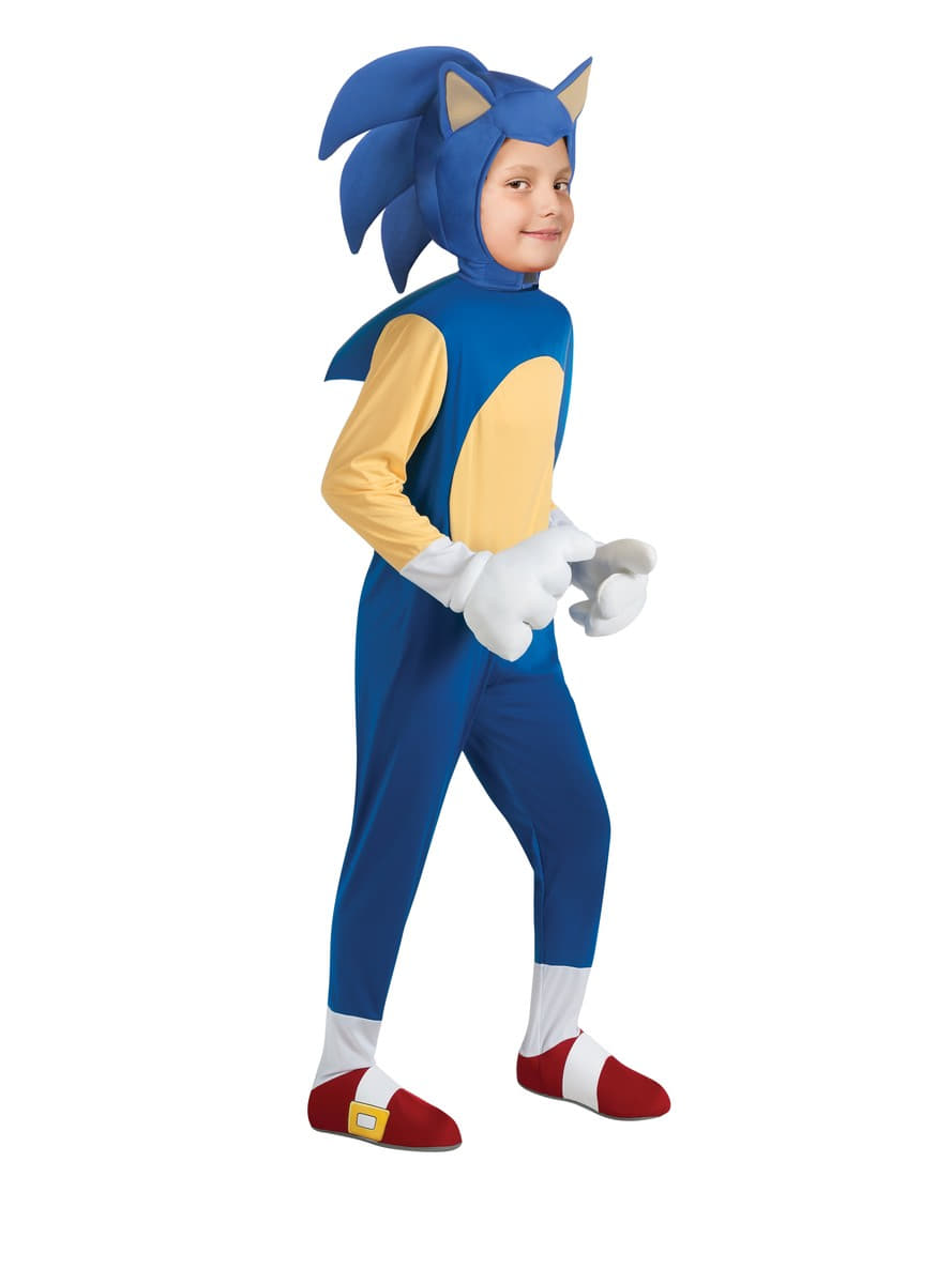 Deluxe Sonic Costume For A Boy Express Delivery Funidelia